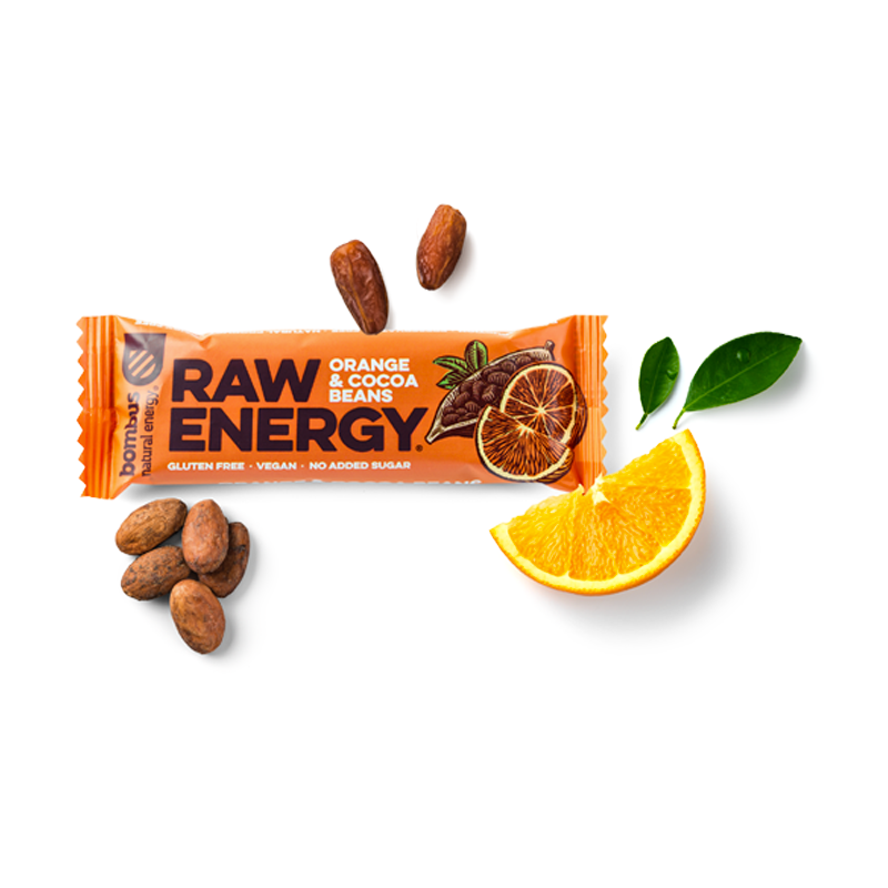 Bombus RAW ENERGY Orange & Cocoa Beans 50g